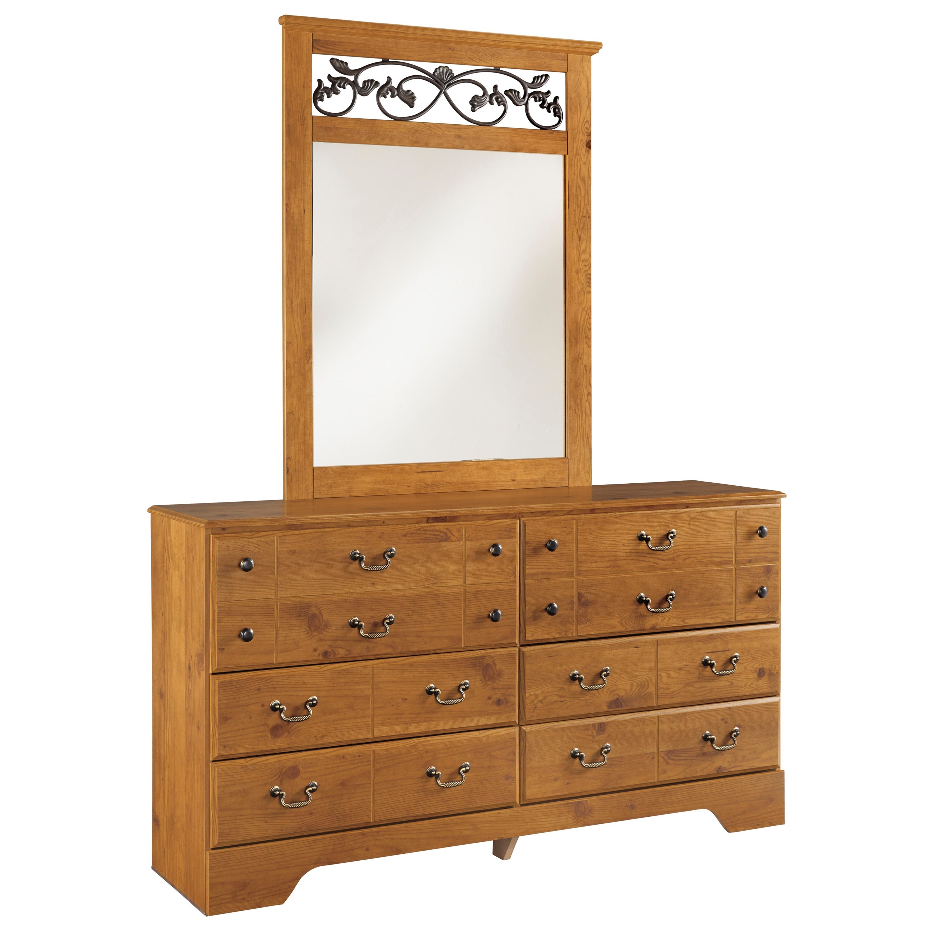 Bittersweet 6 Drawer Dresser and Mirror by Signature Design by Ashley at Lindy's Furniture Company