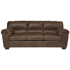 Casual Faux Leather Sofa