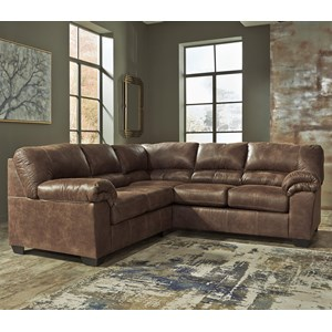 2-Piece Faux Leather Sectional