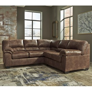 Two-Piece Faux Leather Sectional