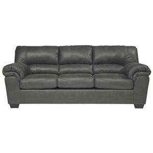 Casual Faux Leather Sofa