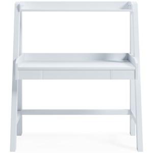 White Finish Desk w/ Hutch