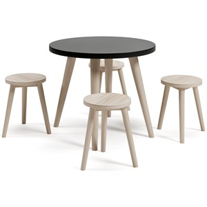 Kids Play Table Set with Chalkboard Paint Table Top