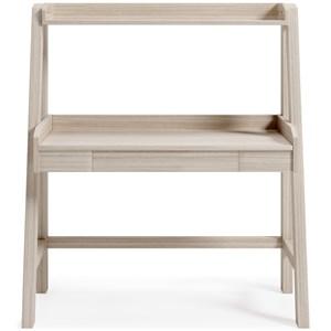 Natural Finish Desk w/ Hutch