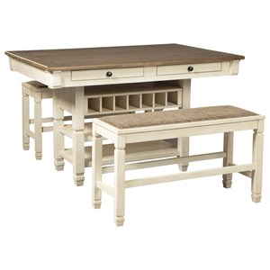 3-Piece Counter Table and Bench Set