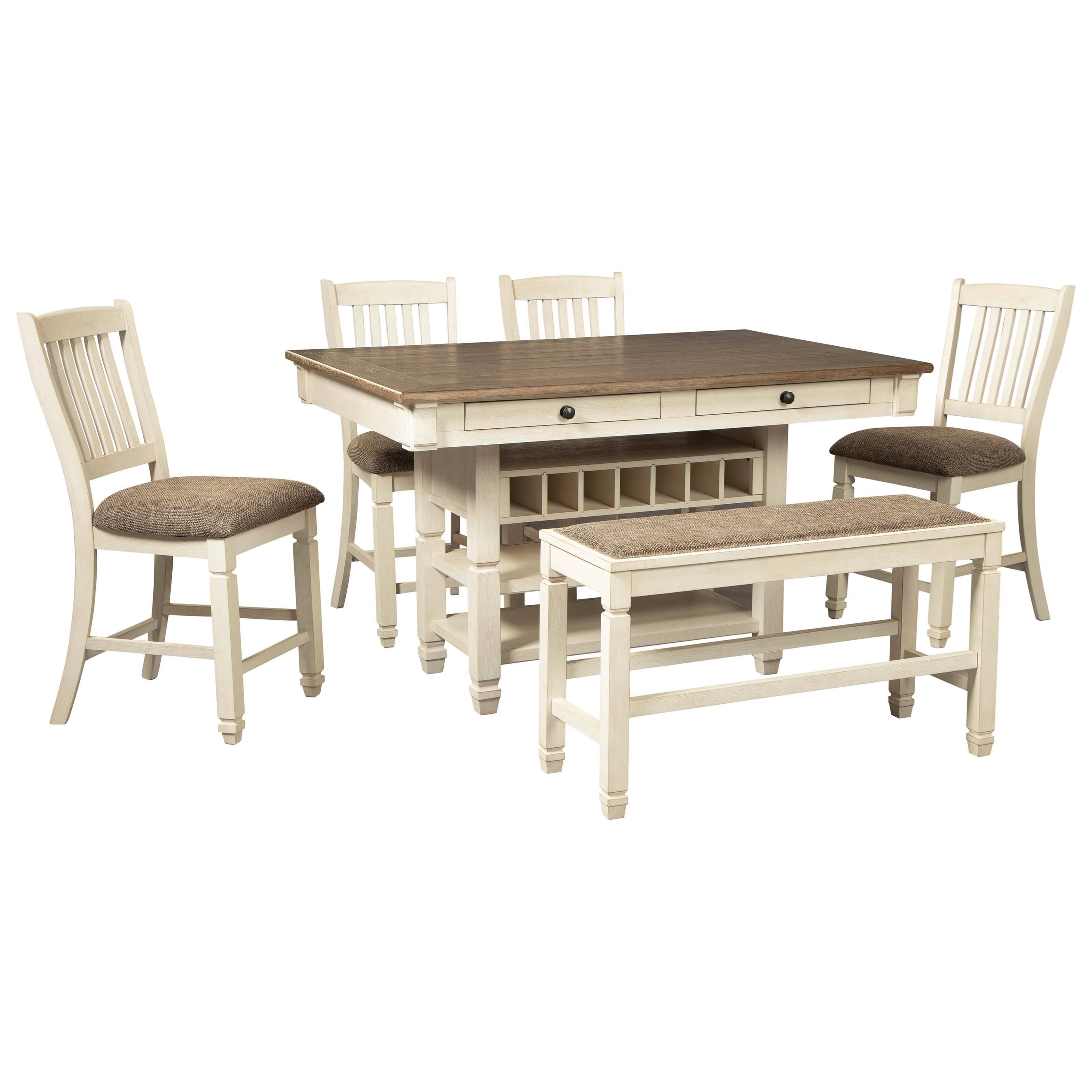 Bolanburg 6-Piece Counter Table Set with Bench by Signature Design by Ashley at Northeast Factory Direct