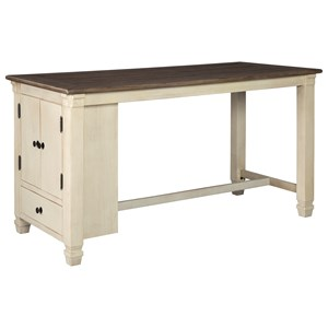 Farmhouse Rectangular Dining Room Counter Table