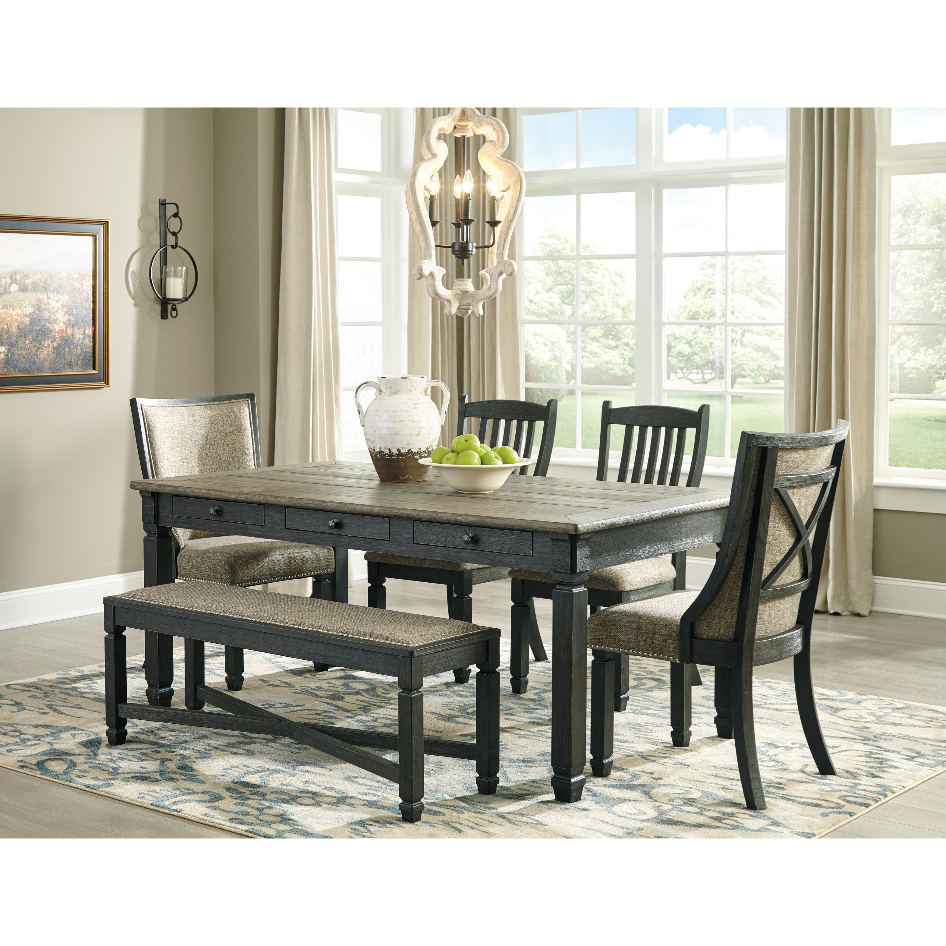 Tyler Creek 6-Piece Table and Chair Set by Signature Design by Ashley at Northeast Factory Direct