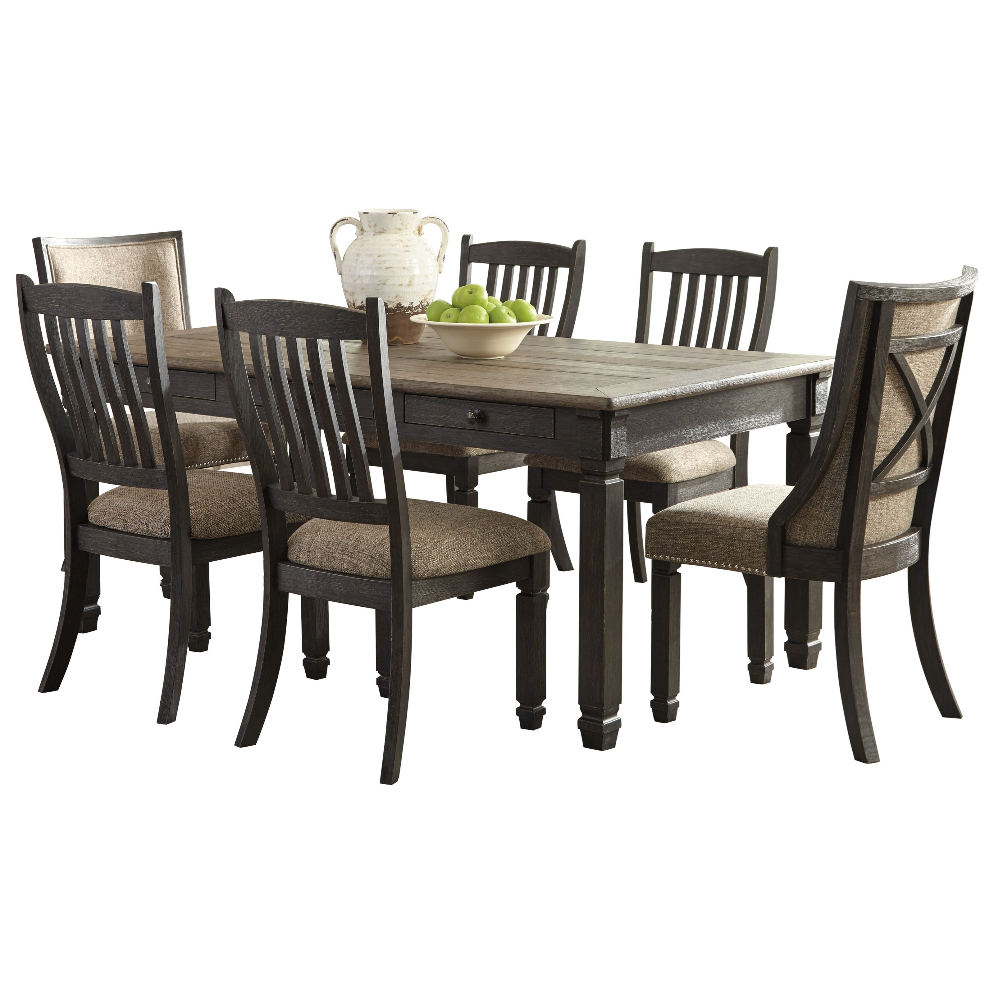 Tyler Creek 7-Piece Table and Chair Set by Signature Design by Ashley at Northeast Factory Direct