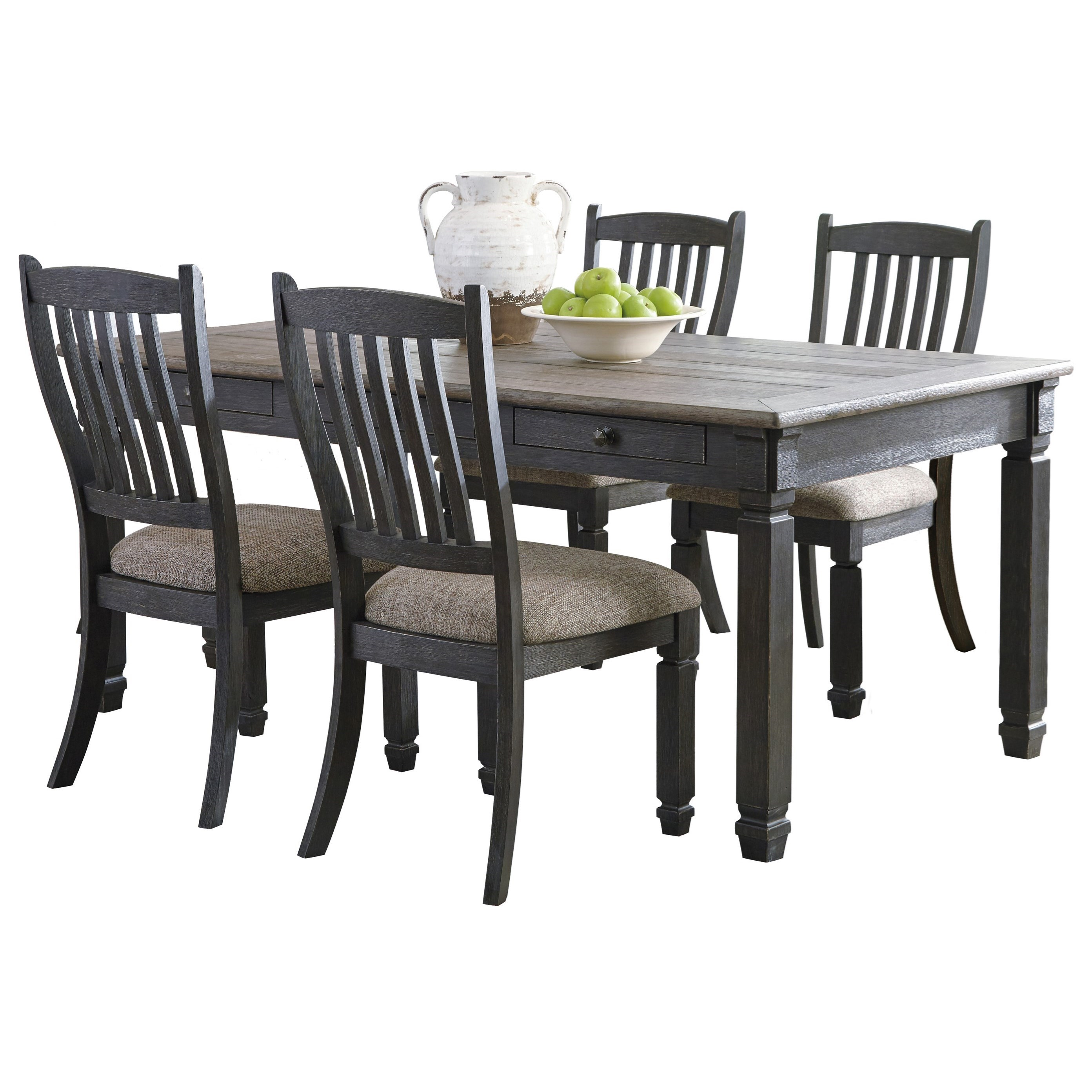 Tyler Creek 5-Piece Table and Chair Set by Signature Design by Ashley at Beck's Furniture
