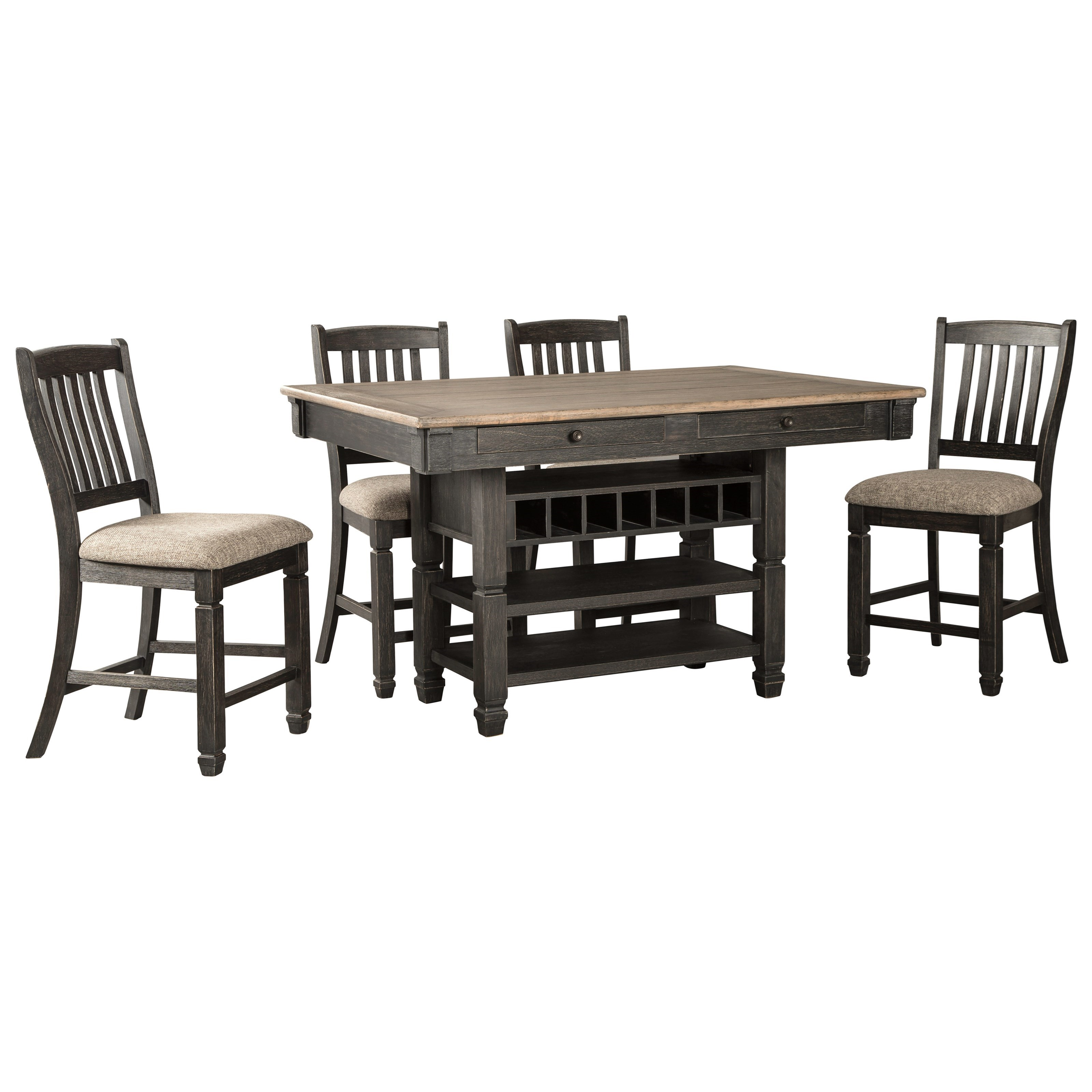 Tyler Creek 5-Piece Counter Table and Stool Set by Signature Design by Ashley at Northeast Factory Direct