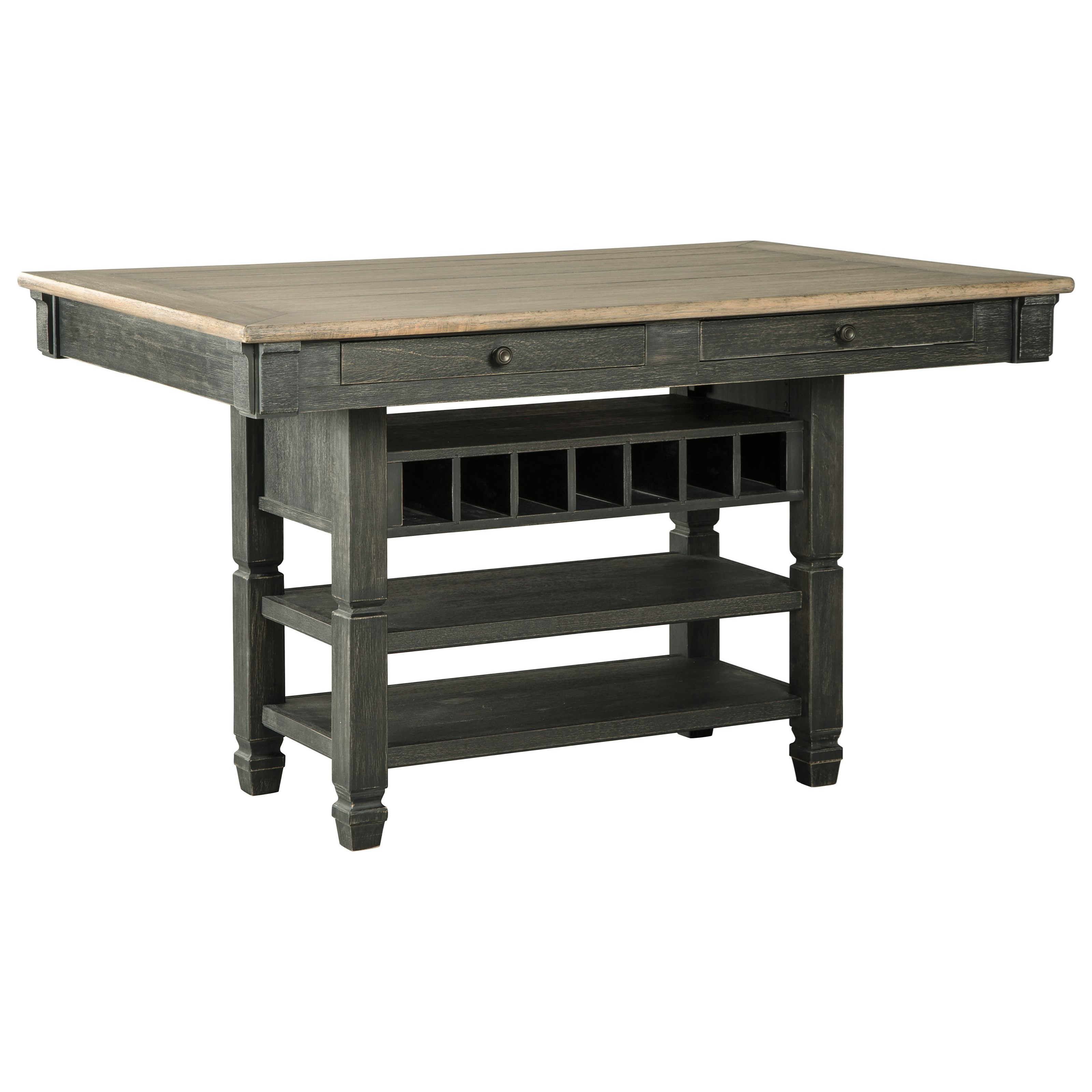 Tyler Creek Rectangular Dining Room Counter Table by Signature Design by Ashley at Suburban Furniture