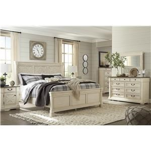Queen Panel Bed, Dresser, Mirror and Nightstand Package