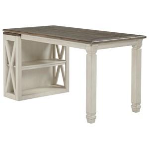Return Desk with Small Bookcase