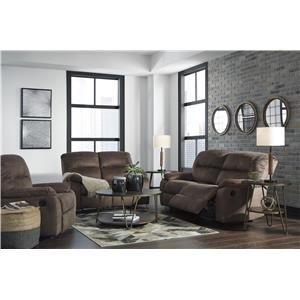 Coffee Recliner Sofa and Recliner Set
