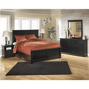 Twin Panel Bed, Dresser, Mirror and Nightstand Package