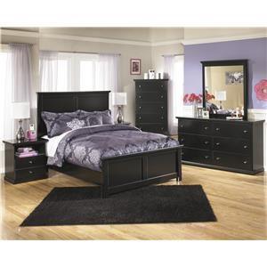 Queen Panel Bed, Dresser, Mirror, 2 Nightstands and Chest Package
