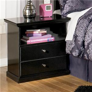 Casual One Drawer Nightstand with Shelf