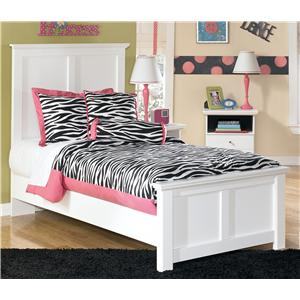 Twin Panel Bed with Simple Moulding
