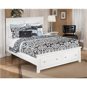 Queen Storage Bed with 2 Footboard Drawers