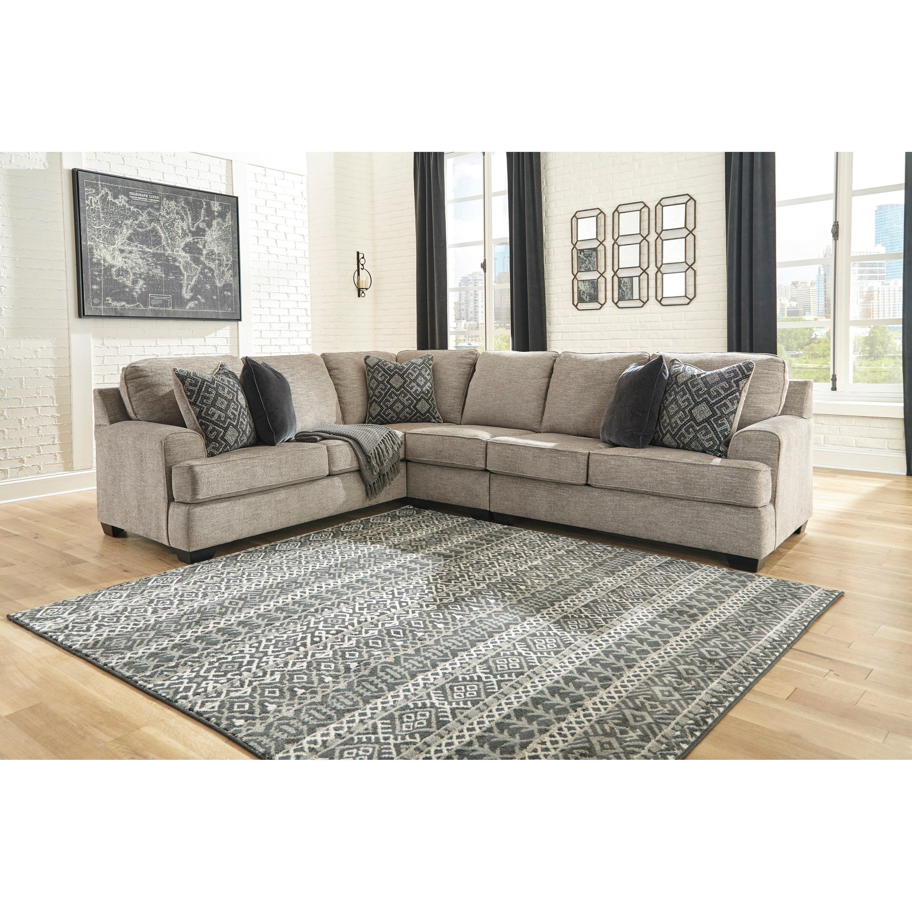 Bovarian 3-Piece Sectional by Signature Design by Ashley at Westrich Furniture & Appliances
