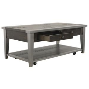 Rectangular Cocktail Table and Rectangular End Table Set