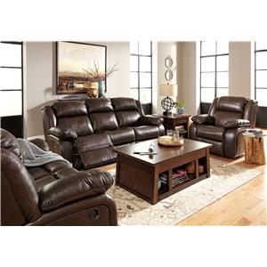 Signature Design by Ashley Branton Power Reclining Living Room Group