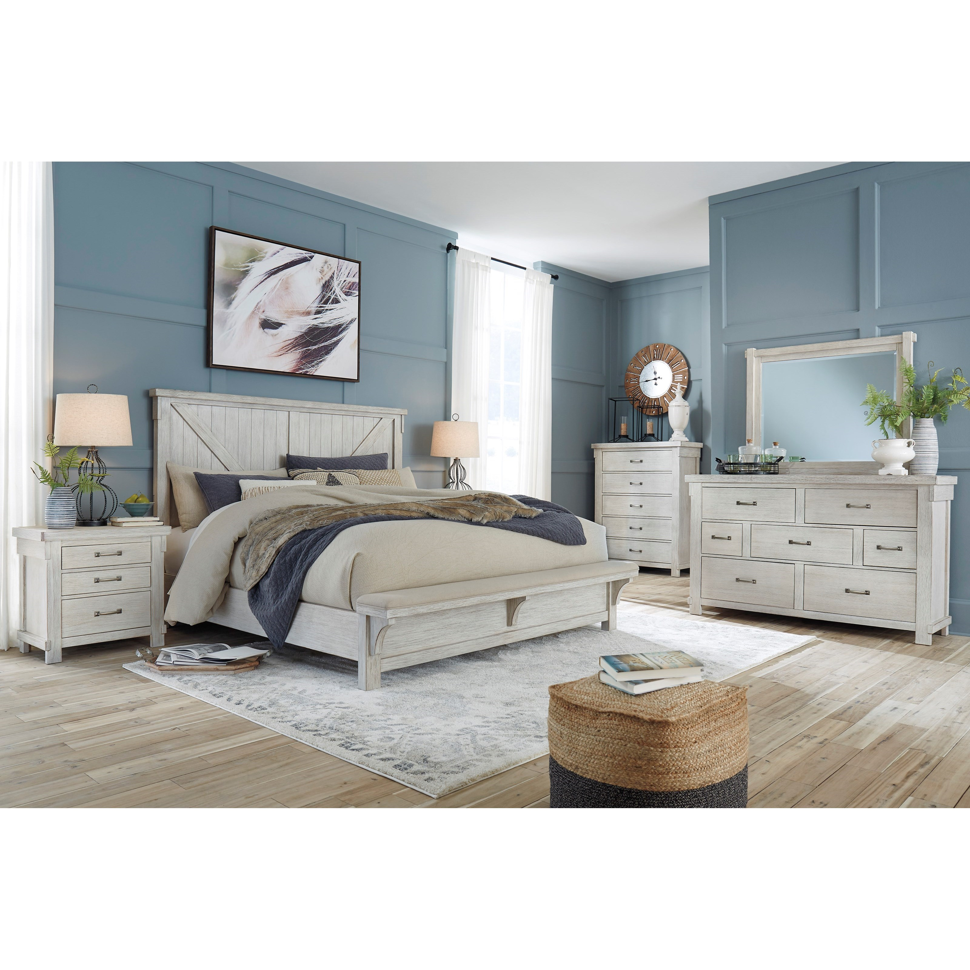 Brashland King Bedroom Group by Signature Design by Ashley at Beck's Furniture
