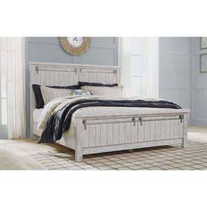 Relaxed Vintage California King Panel Bed