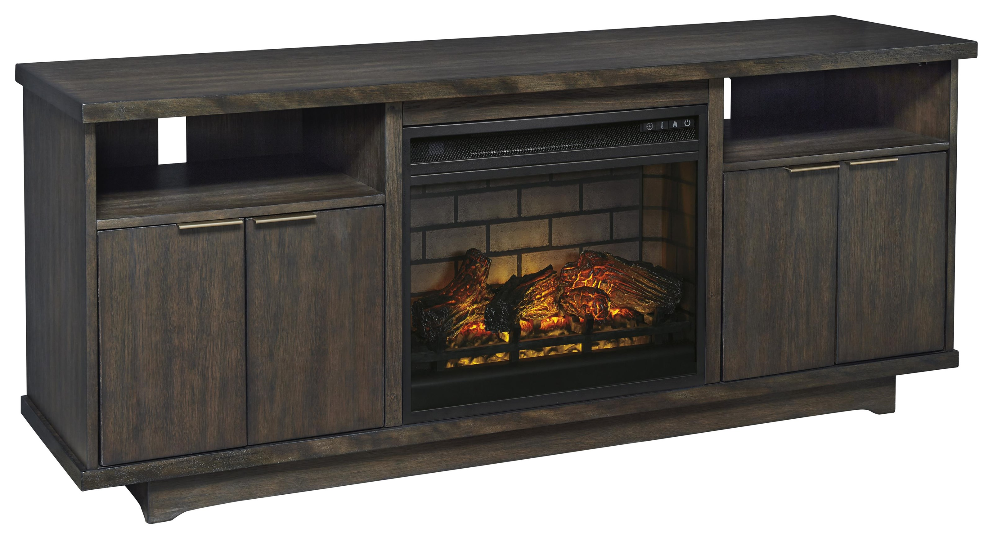 """Brazburn 66"""" TV Stand with Fireplace Insert by Signature Design by Ashley at Sam Levitz Furniture"""