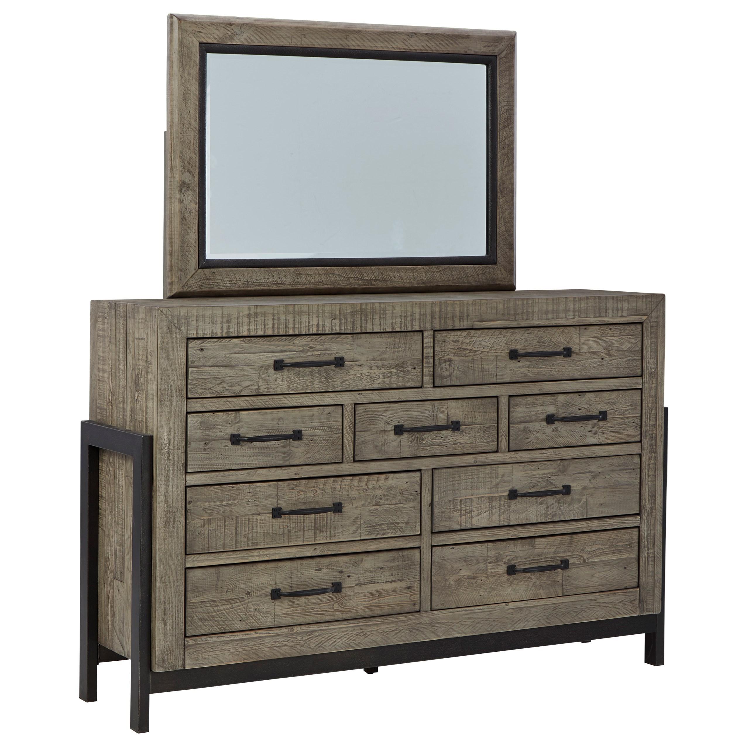 Brennagan Dresser and Mirror Set by Signature at Walker's Furniture