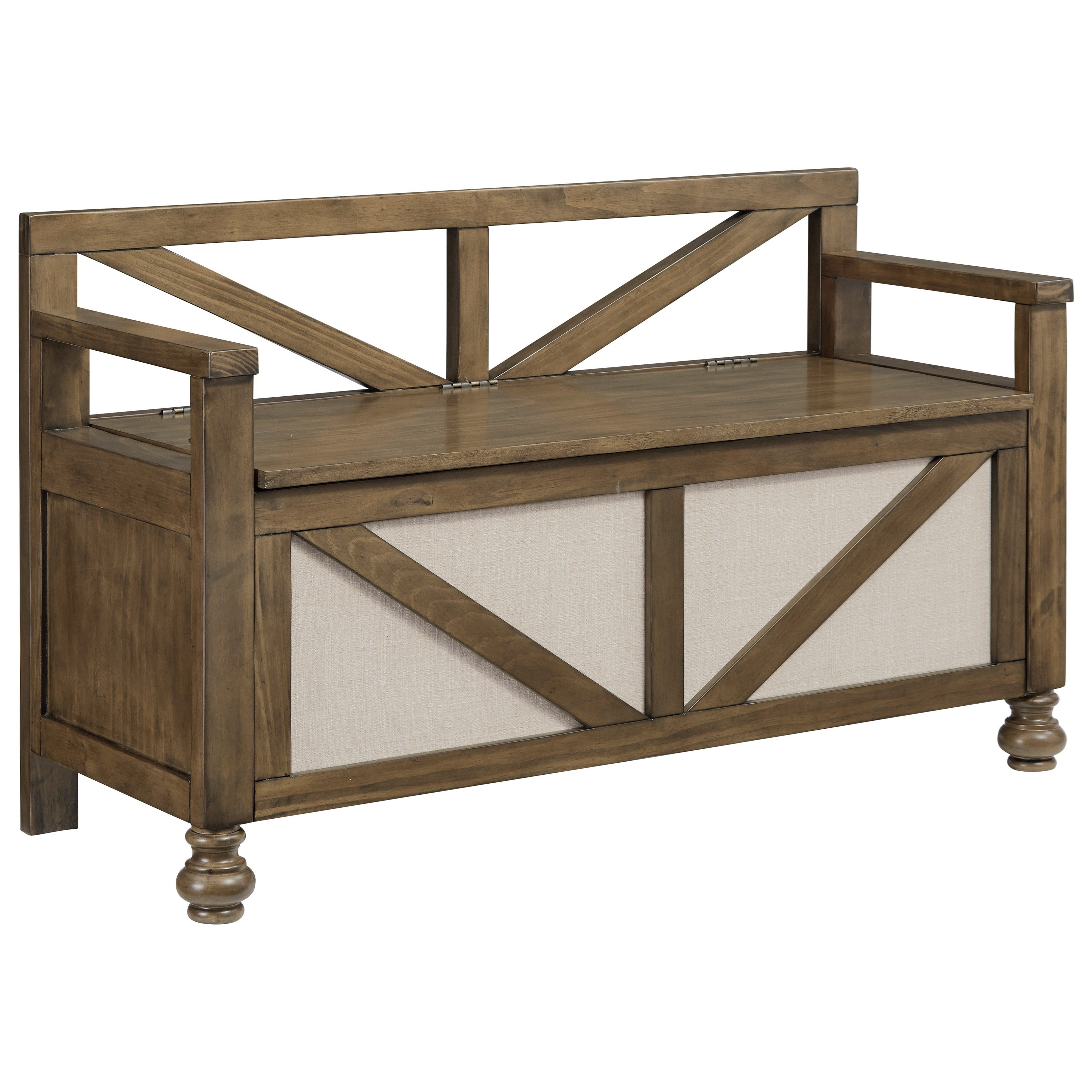 Brickwell Storage Bench by Signature Design by Ashley at Zak's Warehouse Clearance Center