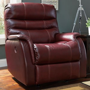 Contemporary Leather Match Power Rocker Recliner