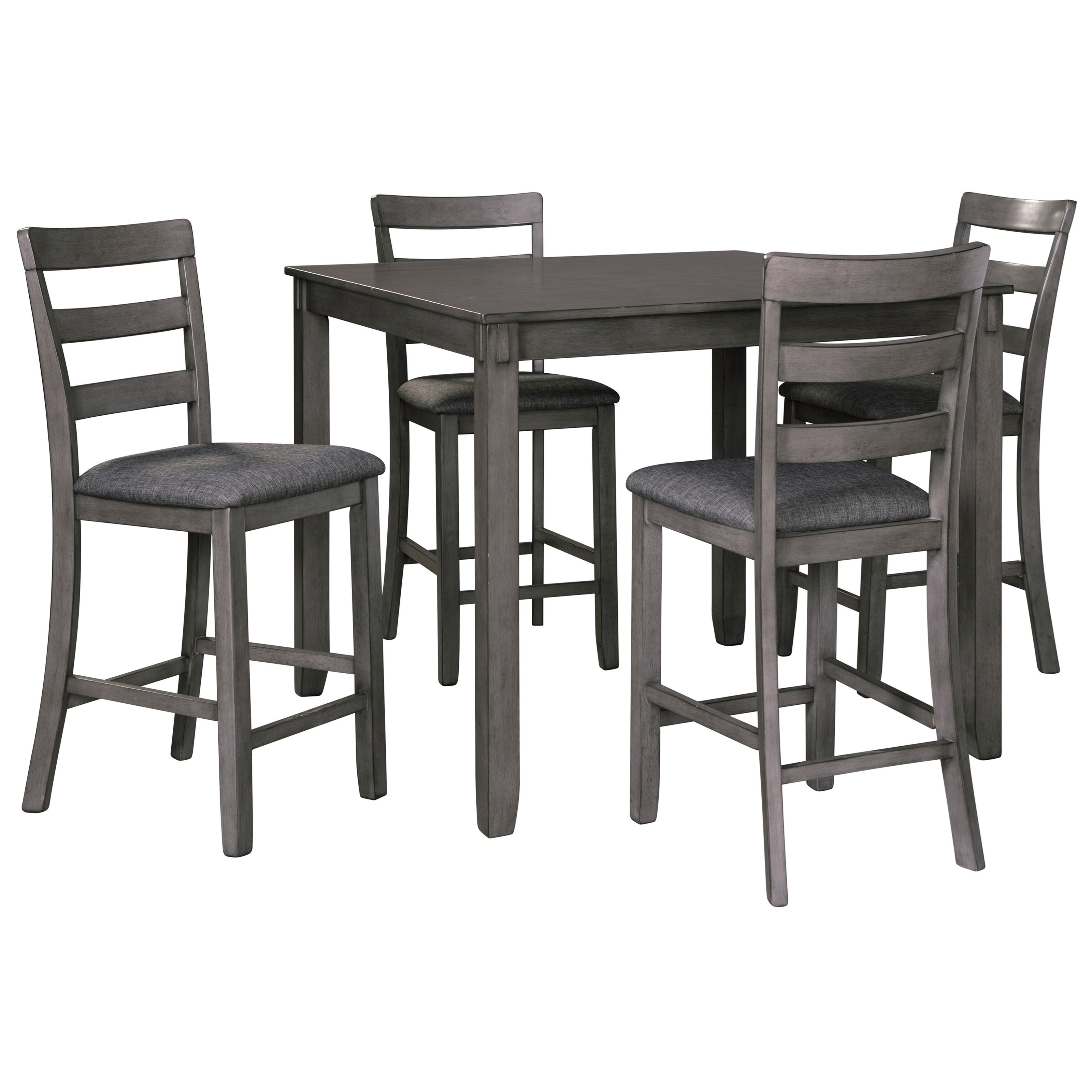 Bridson 5-Piece Square Counter Table Set by Ashley (Signature Design) at Johnny Janosik