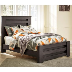 Full Panel Bed in Charcoal Finish