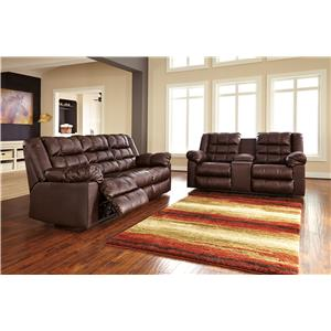 Signature Design by Ashley Brolayne DuraBlend® Reclining Living Room Group