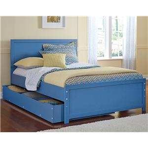Signature Design by Ashley Bronilly Full Panel Bed w/ Under Bed Trundle Storage