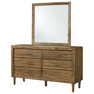 6 Drawer Dresser and Mirror Set