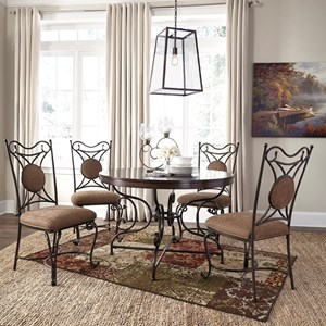 Signature Design by Ashley Brulind 5 Piece Table and Chair Set