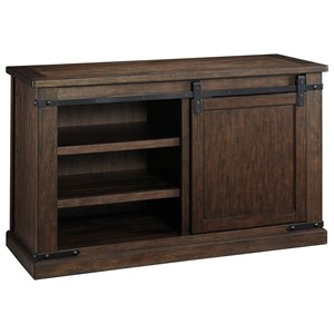 Mango Veneer Medium TV Stand with Barn Door