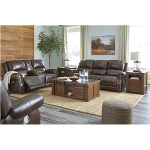 Chocolate Power Recliner Loveseat w/ Console and Power Recliner Set