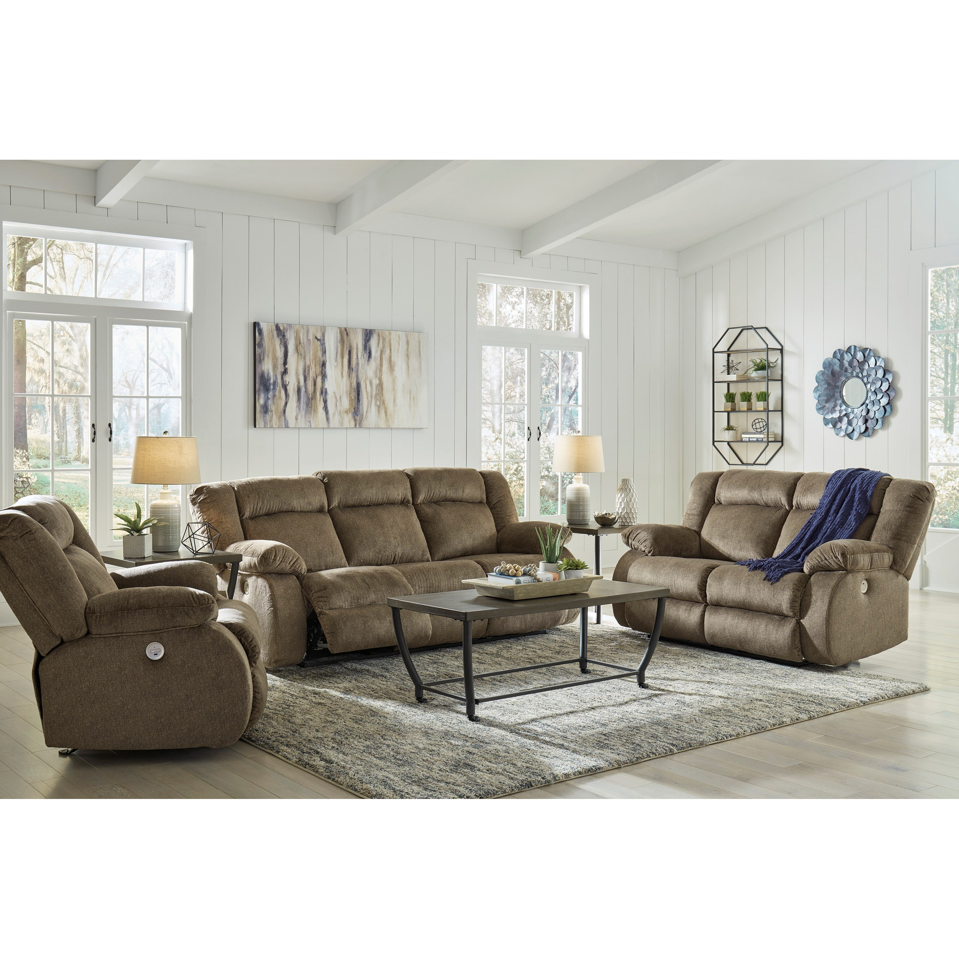 Burkner Power Reclining Living Room Group by Signature Design by Ashley at Zak's Warehouse Clearance Center
