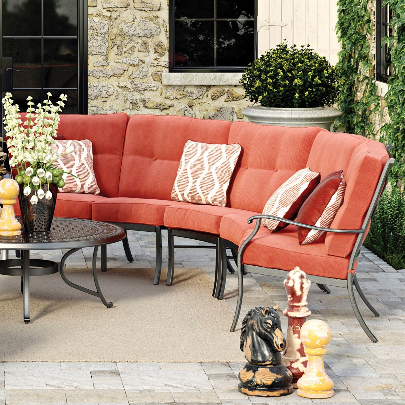 Burnella 3-Piece Outdoor Sectional by Signature Design by Ashley at Lapeer Furniture & Mattress Center