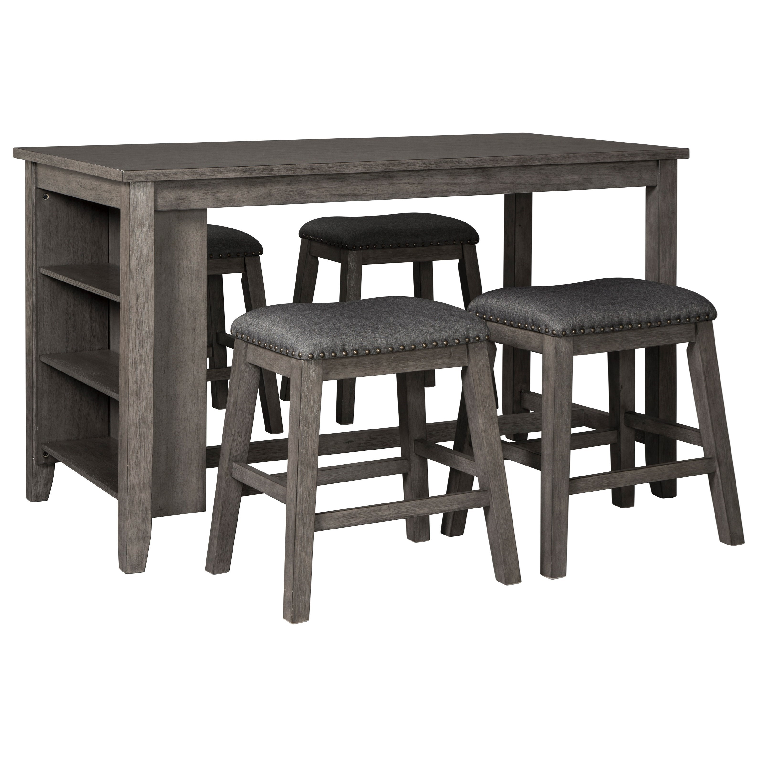 Caitbrook Five Piece Kitchen Island & Chair Set by StyleLine at EFO Furniture Outlet