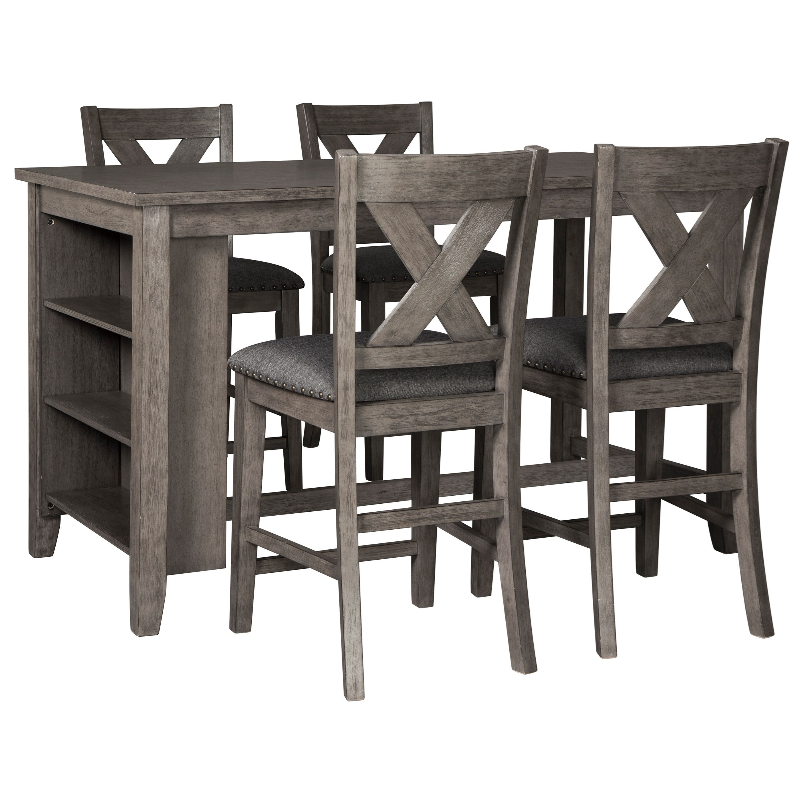 Caitbrook Five Piece Kitchen Island & Chair Set by Signature Design by Ashley at Northeast Factory Direct