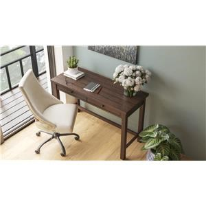 """3 Piece Home Office 47"""" 2 Drawer Desk, 71"""" Bookcase and a Swivel Chair Set"""