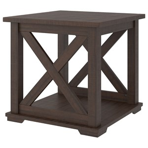 Square End Table with X-Sides