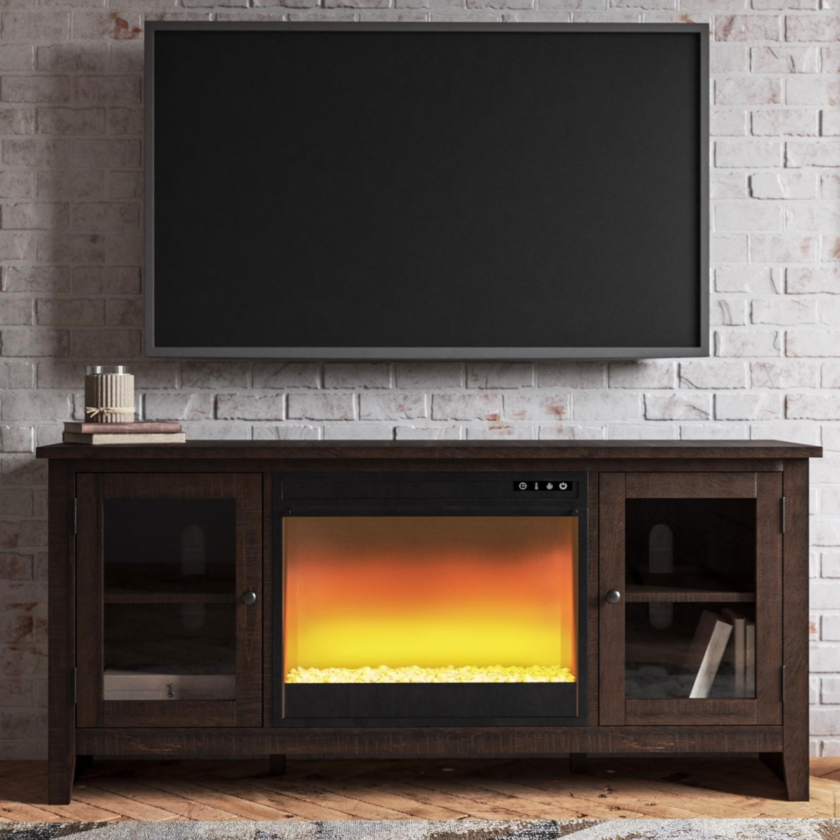 Camiburg Large TV Stand w/ Fireplace Insert by Signature Design by Ashley at Northeast Factory Direct