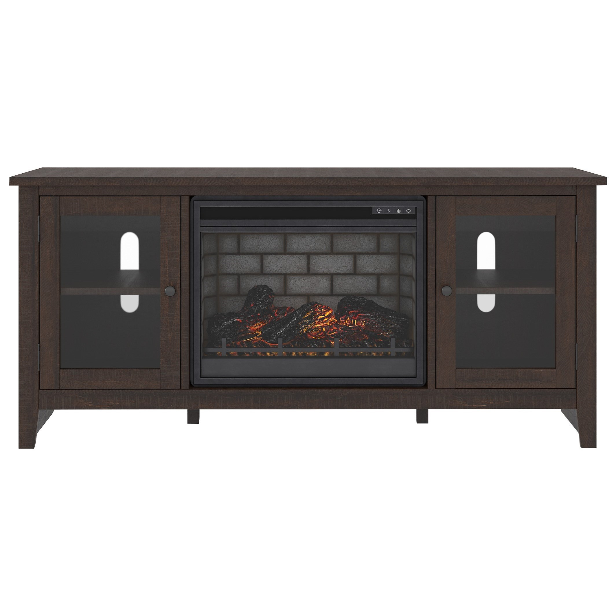 Camiburg Large TV Stand w/ Fireplace Insert by Ashley Signature Design at Dunk & Bright Furniture