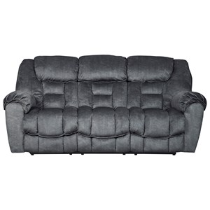 Casual Contemporary Reclining Sofa